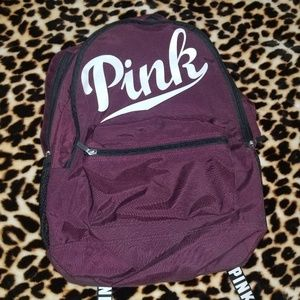 Vs pink maroon backpack